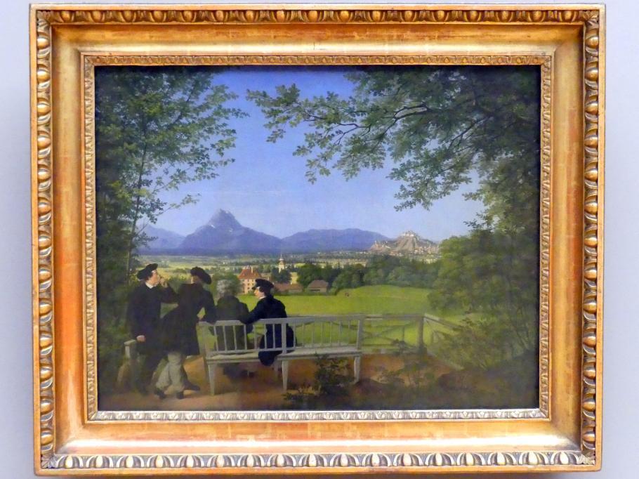 Julius Schoppe: Ausblick auf Aigen und Salzburg, 1817