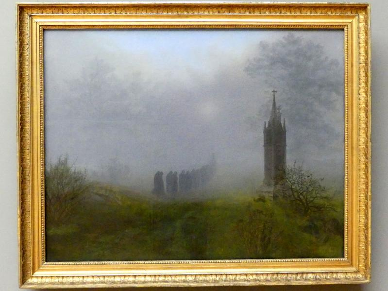 Ernst Ferdinand Oehme: Prozession im Nebel, 1828