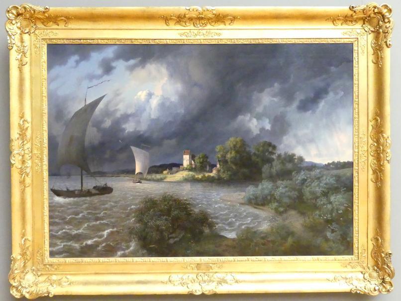 Ernst Ferdinand Oehme: Gewittersturm in der Gegend des Dorfes Kaditz, 1838