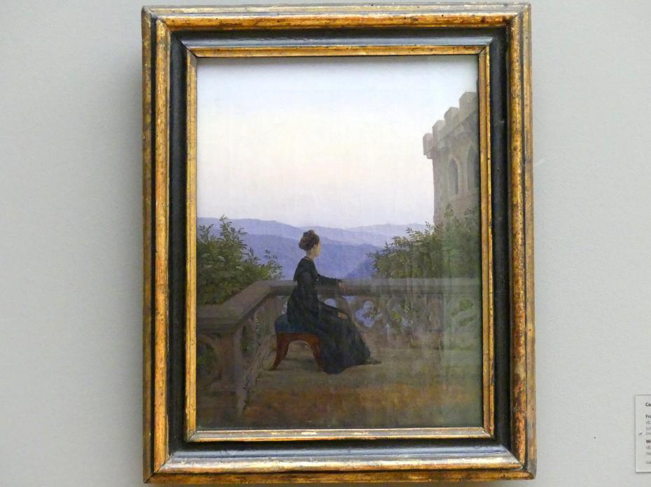 Carl Gustav Carus: Frau auf dem Söller, 1824