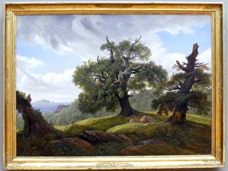 Carl Gustav Carus: Erinnerung an eine bewaldete Insel der Ostsee (Eichen am Meer), 1835