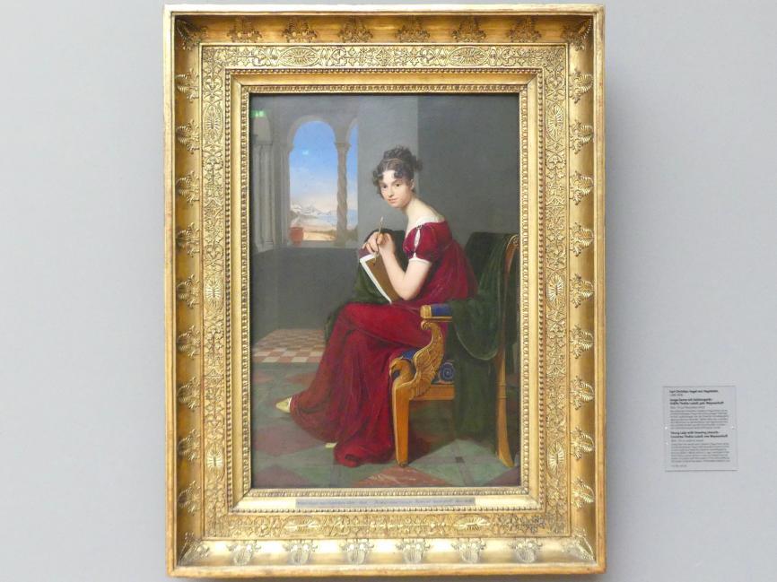 Carl Christian Vogel von Vogelstein: Junge Dame mit Zeichengerät - Gräfin Thekla Ludolf, geb. Weyssenhoff, 1816