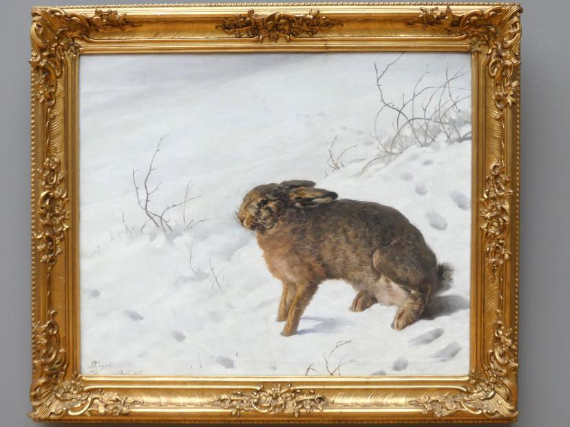 Ferdinand von Rayski: Hase im Schnee, 1875