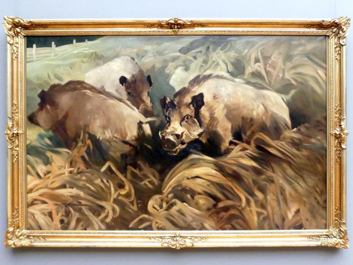 Richard Hofmann: Wildschweine, 1917
