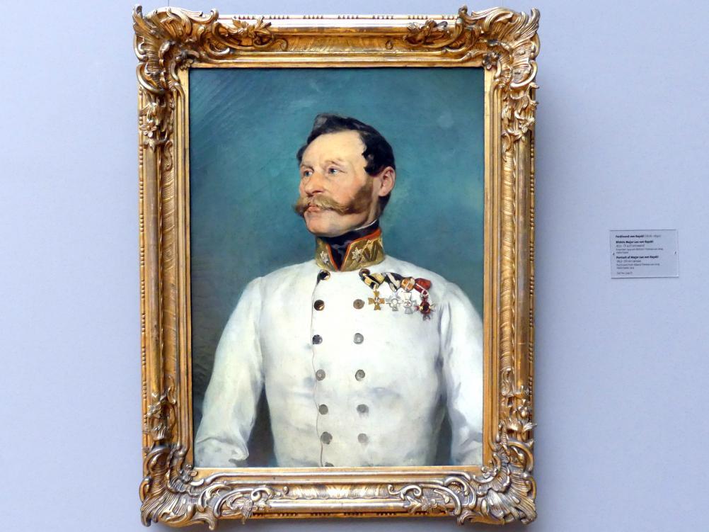 Ferdinand von Rayski: Bildnis Major Leo von Rayski, 1857
