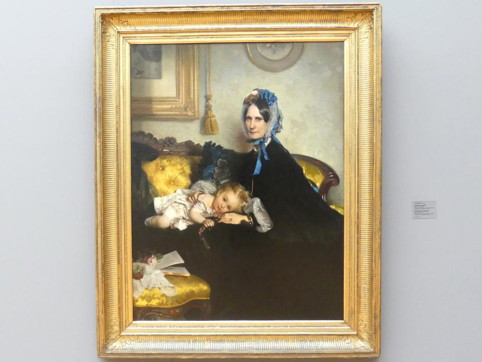 Julius Scholtz: Großmutter und Enkelin, 1863