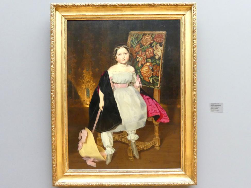 Ferdinand von Rayski: Kinderbildnis (Bildnis eines unbekannten Mädchens), um 1850, Bild 1/2