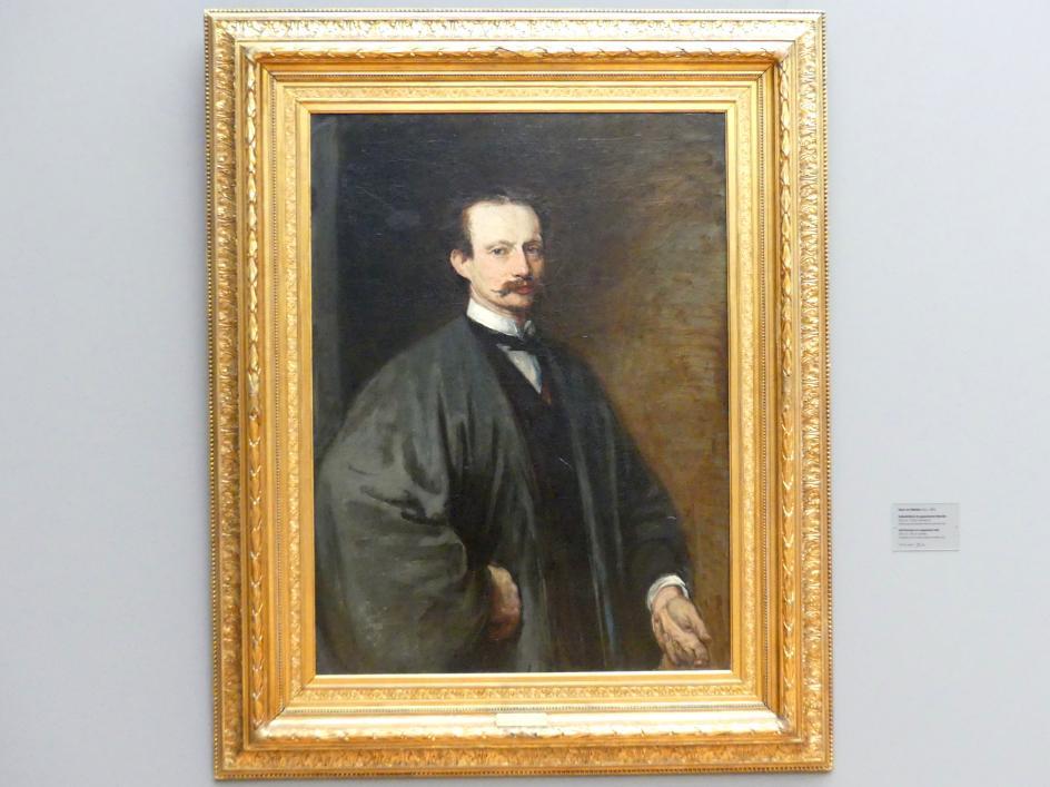 Hans von Marées: Selbstbildnis im japanischen Mantel, 1872 - 1873