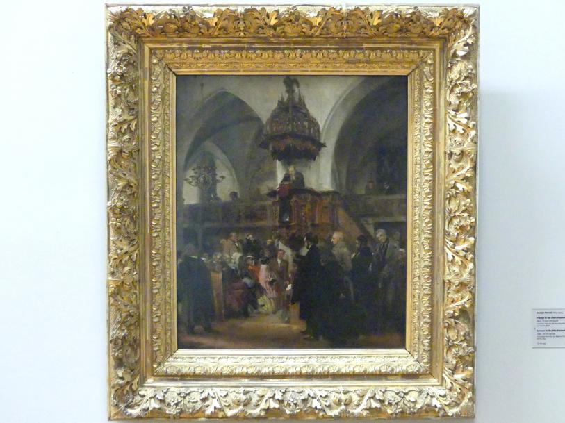 Adolph von Menzel: Predigt in der alten Klosterkirche zu Berlin, 1847