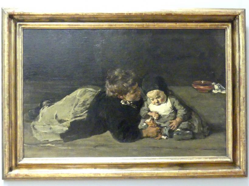 Max Liebermann: Geschwister (Spielende Kinder), 1876