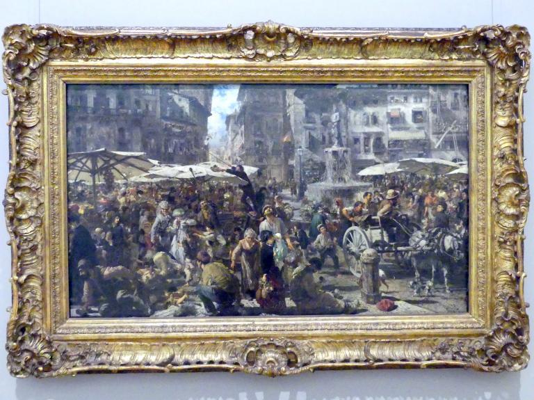Adolph von Menzel: Piazza d'Erbe in Verona, 1884