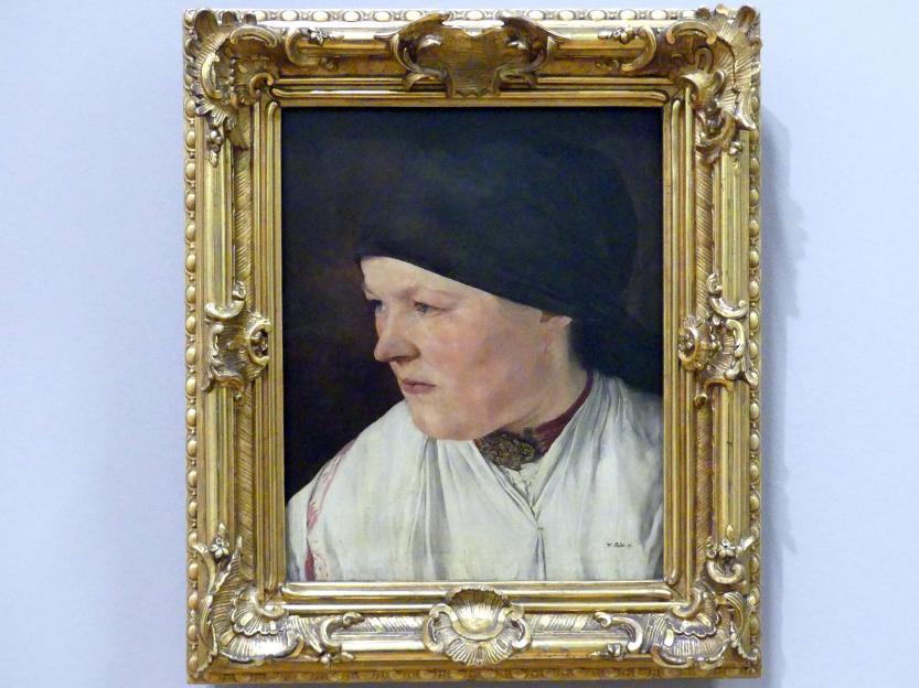 Wilhelm Leibl: Kopf eines Bauernmädchens, 1879
