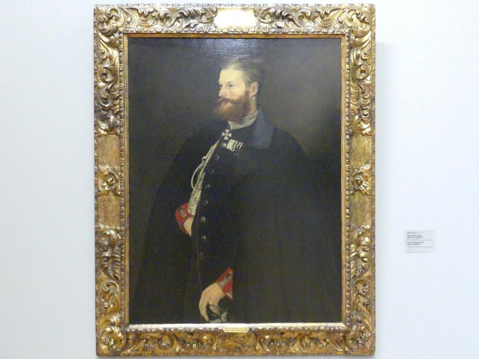 Wilhelm Leibl: Bildnis Wilhelm Schenk Freiherr von Stauffenberg, 1877