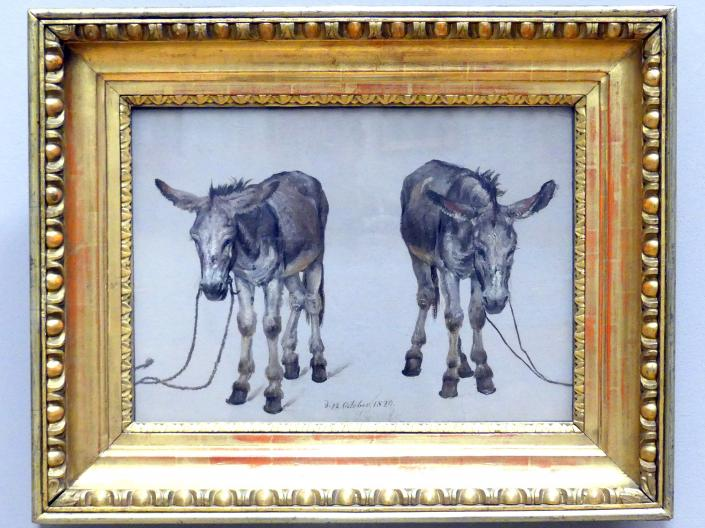 Johan Christian Clausen Dahl: Studie zweier Esel, 1820