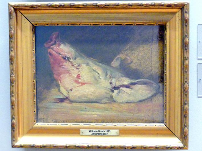 Wilhelm Busch: Schweinekopf, 1875