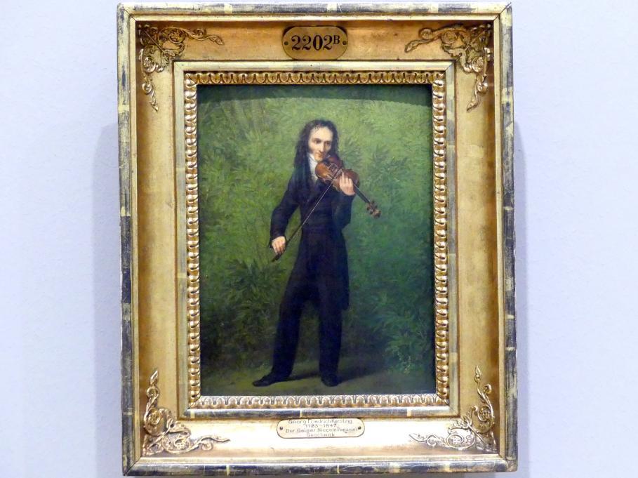 Georg Friedrich Kersting: Der Geiger Niccolò Paganini, Um 1829