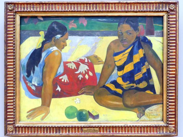 Paul Gauguin: Parau Api. Gibt's was Neues ?, 1892