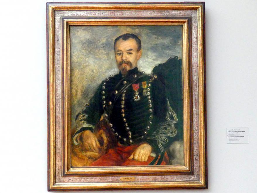 Auguste Renoir (Pierre-Auguste Renoir): Bildnis des Capitaine Édouard Bernier, 1871