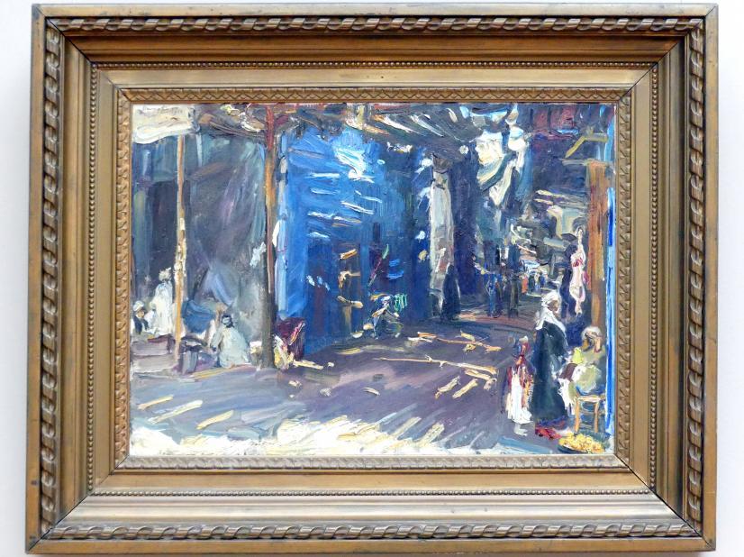 Max Slevogt: Basarstraße in Assuan II, 1914