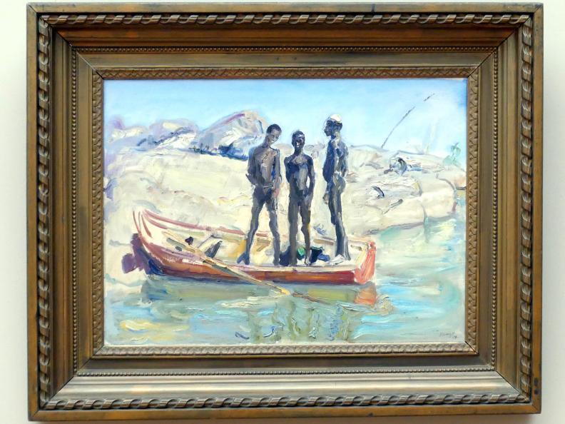 Max Slevogt: Drei Sudanesen im Kahn, 1914