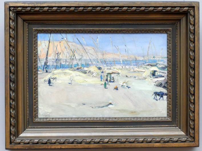 Max Slevogt: Getreidehafen in Assuan, 1914
