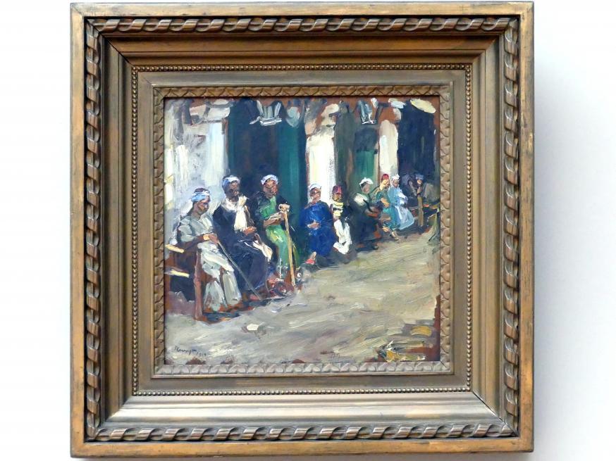 Max Slevogt: Vor einem Kaffeehaus in Kairo, 1914