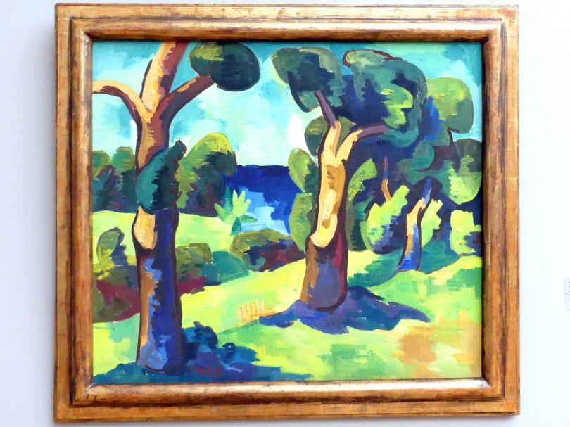Karl Schmidt-Rottluff: Baumlandschaft, 1928
