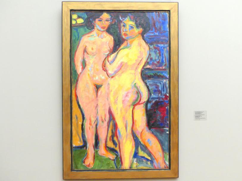 Ernst Ludwig Kirchner: Stehende nackte Mädchen am Ofen, 1908