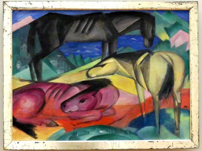 Franz Marc: Drei Pferde II (kleinere Fassung), 1913