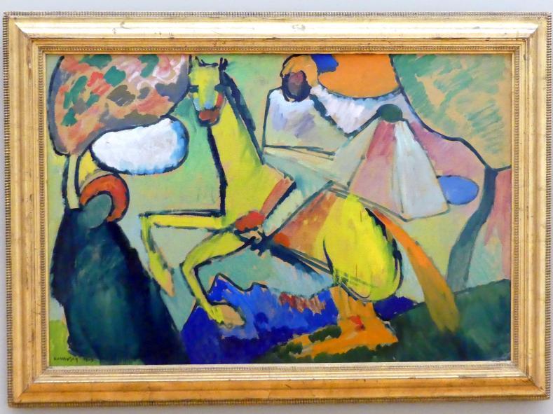 Wassily Kandinsky: Skizze (Reiter), 1909