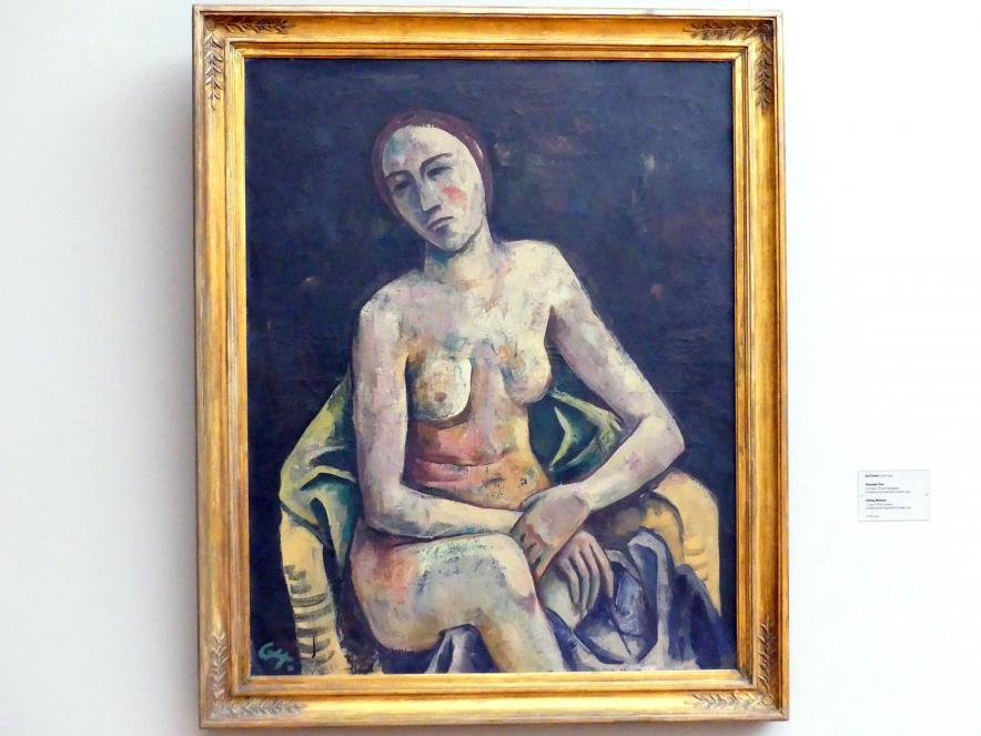 Karl Hofer (Carl Hofer): Sitzende Frau, um 1920