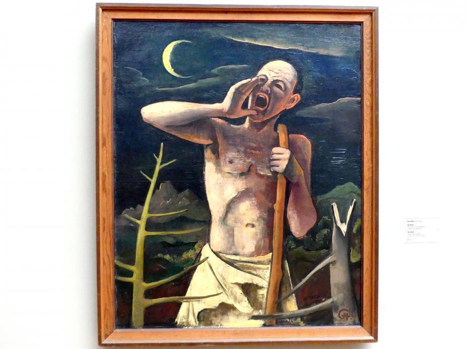 Karl Hofer (Carl Hofer): Der Rufer, Um 1924