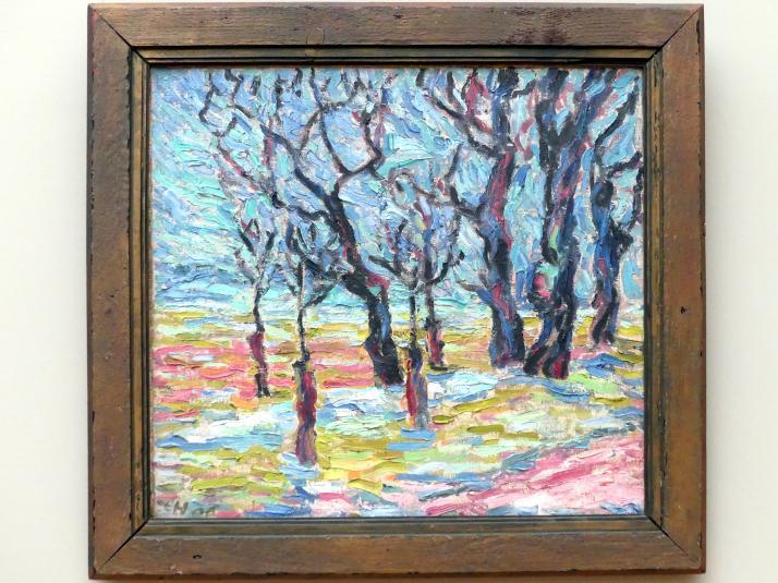 Erich Heckel: Wintermorgen / Pferdeweide, 1906