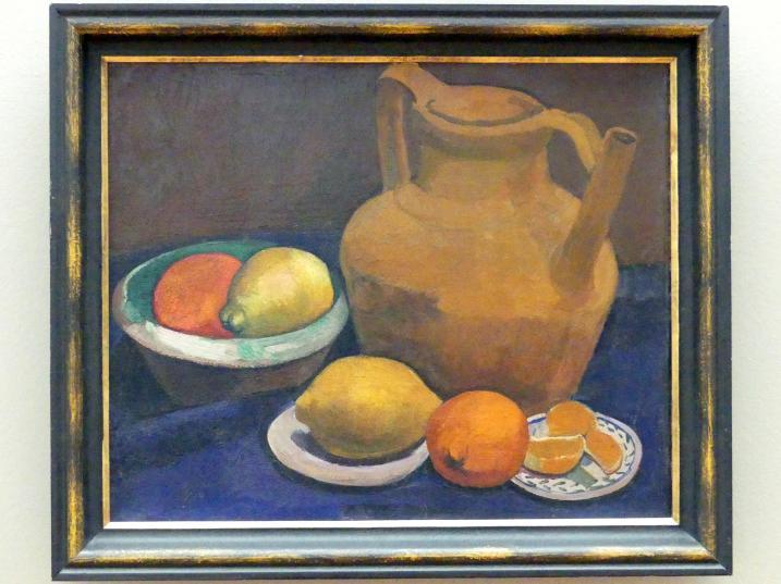 Paula Modersohn-Becker: Stillleben mit Tonkrug, Zitronen und Apfelsinen, 1906