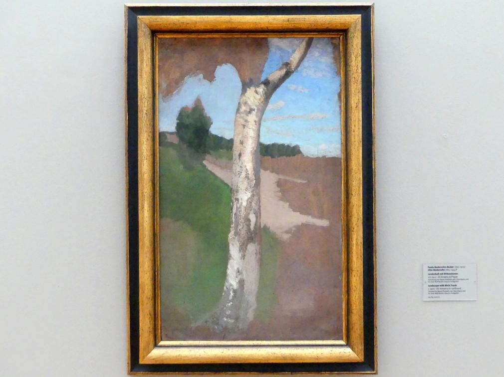 Paula Modersohn-Becker: Landschaft mit Birkenstamm, Um 1900
