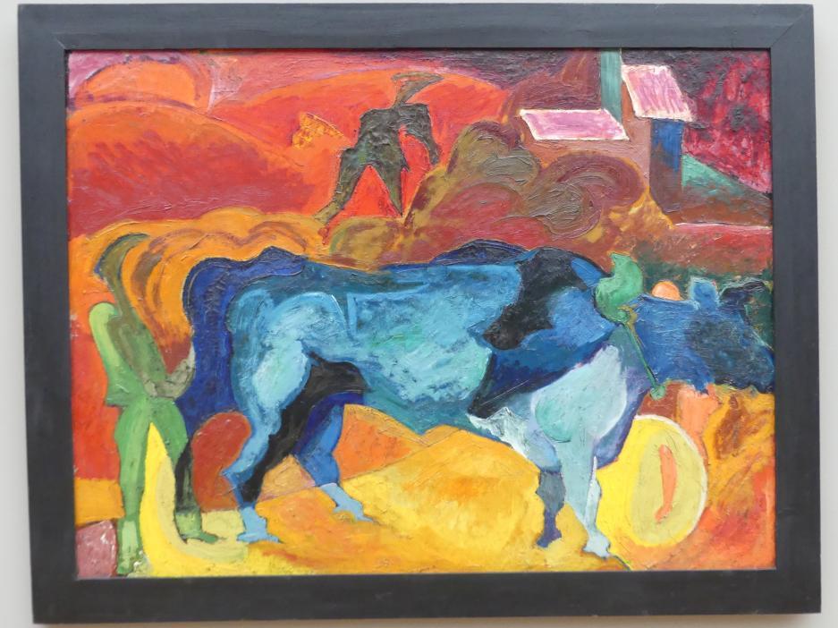 Carl Lohse: Ernte (Blaue Stiere), 1920