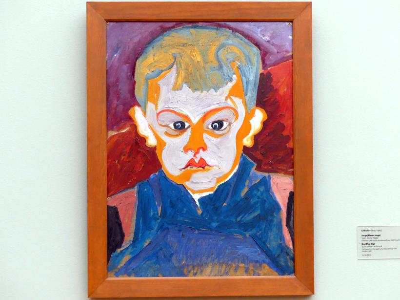 Carl Lohse: Junge (Blauer Junge), 1920