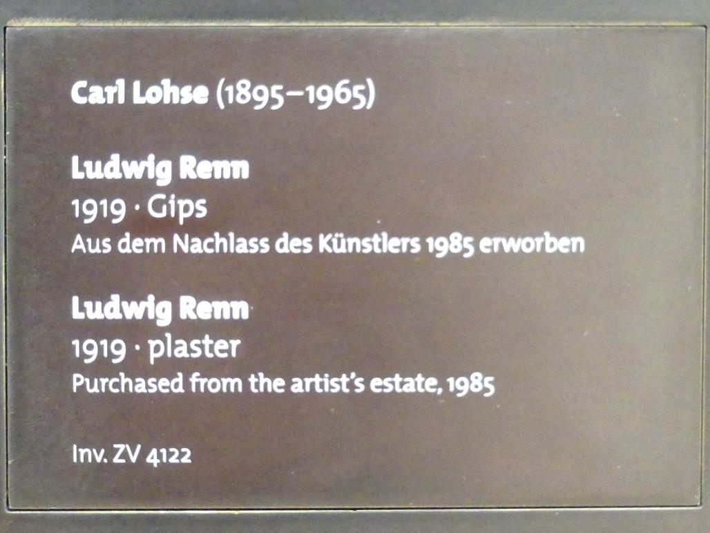 Carl Lohse: Ludwig Renn, 1919, Bild 7/7