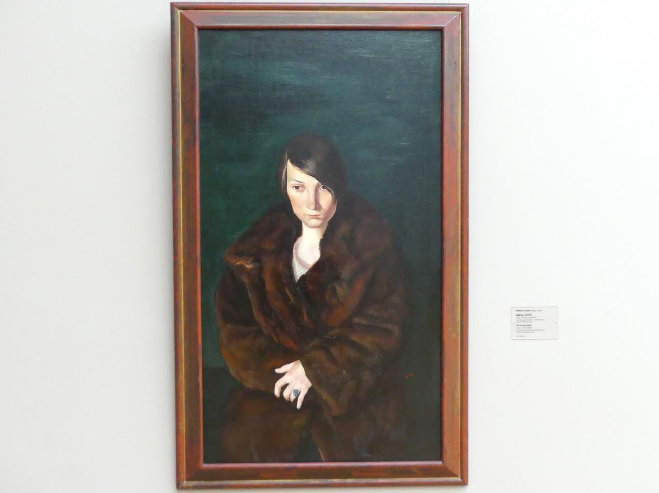 Wilhelm Lachnit: Mädchen mit Pelz, 1925
