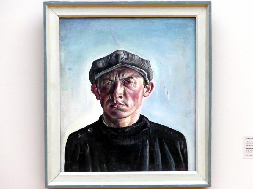 Curt Querner: Selbstbildnis mit Mütze, 1930