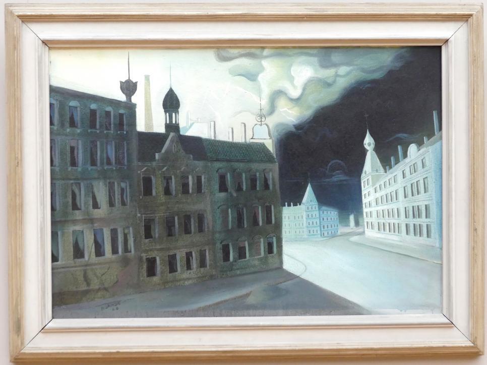 Hans Grundig: Gewitter (Kalte Nacht), 1928