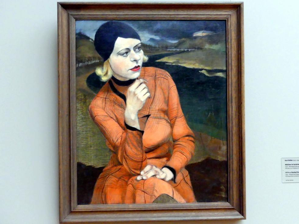 Kurt Eichler: Mädchen im karierten Kleid, 1930