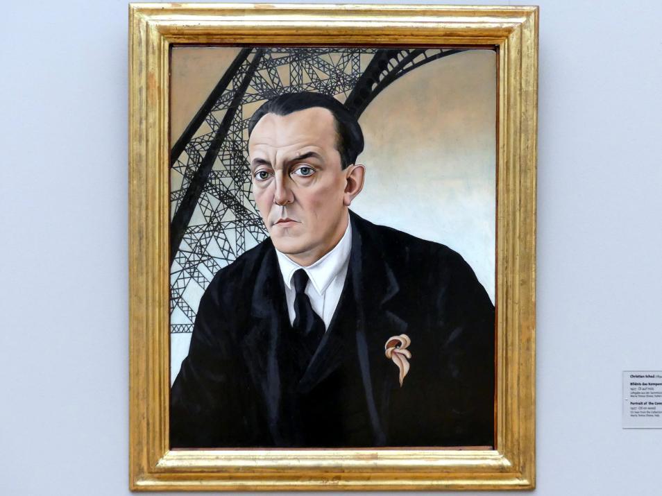 Christian Schad: Bildnis des Komponisten Matthias Hauer, 1927