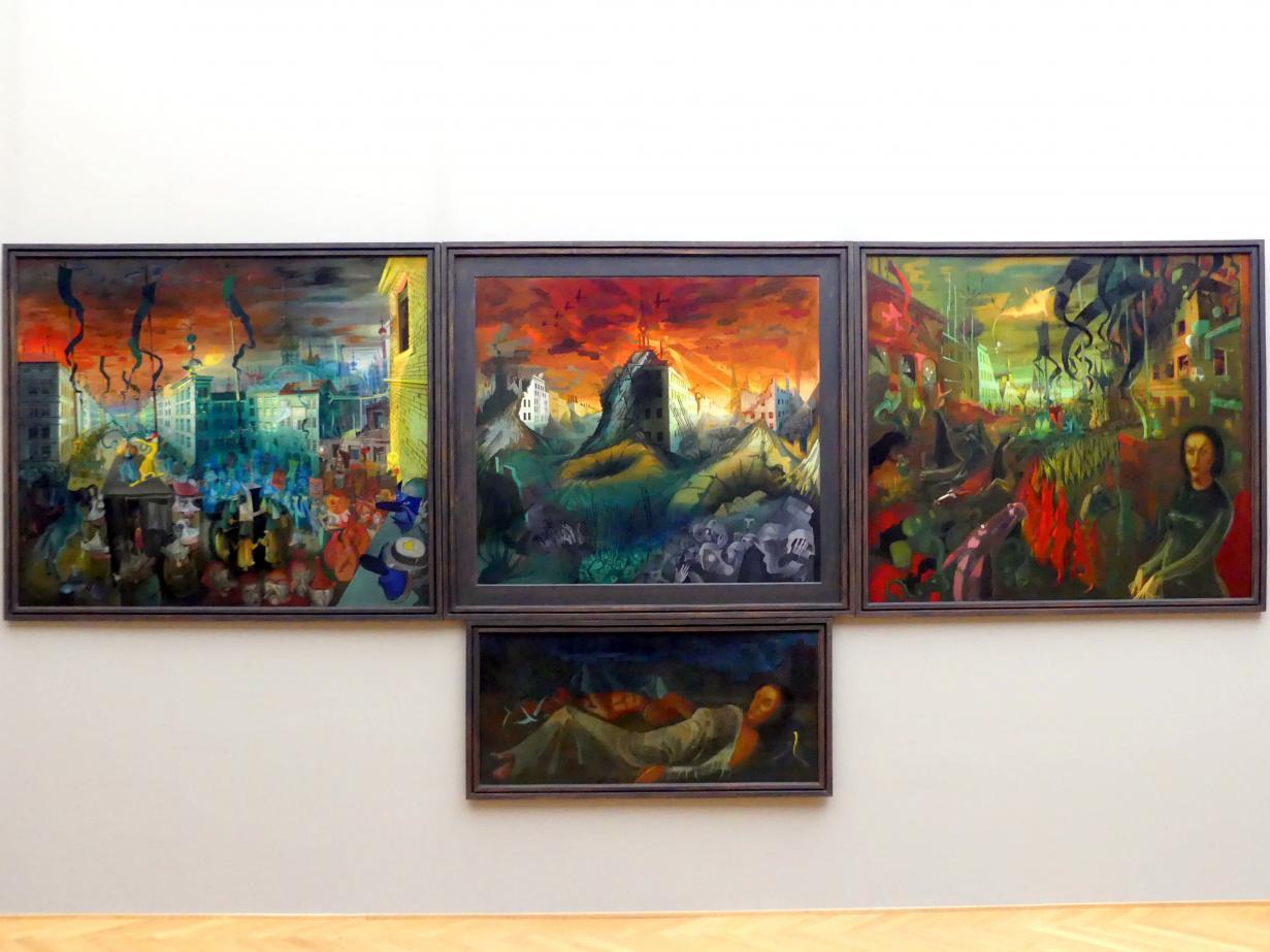 Hans Grundig: Das Tausendjährige Reich (Triptychon), 1935 - 1938