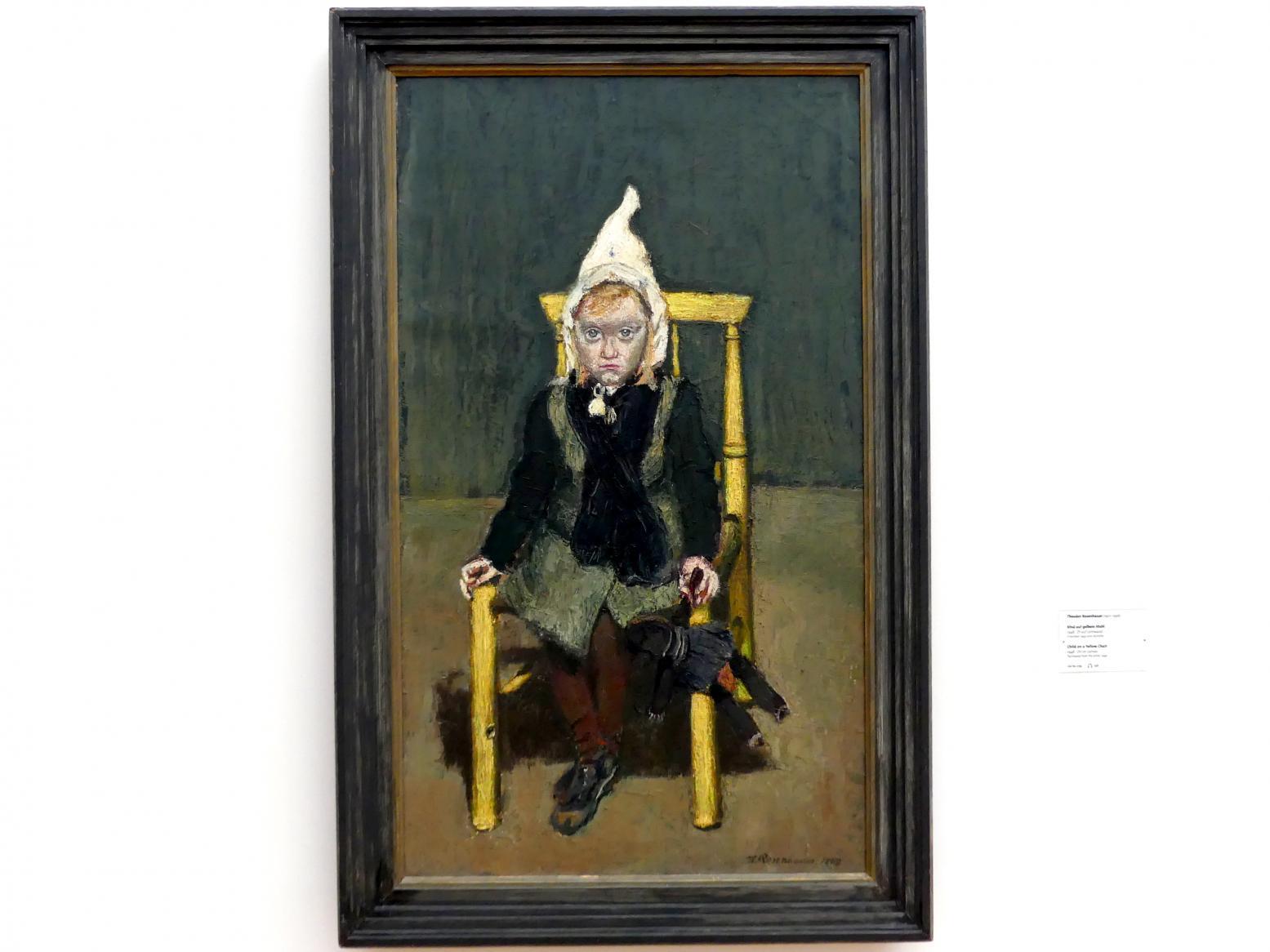 Theodor Rosenhauer: Kind auf gelbem Stuhl, 1948