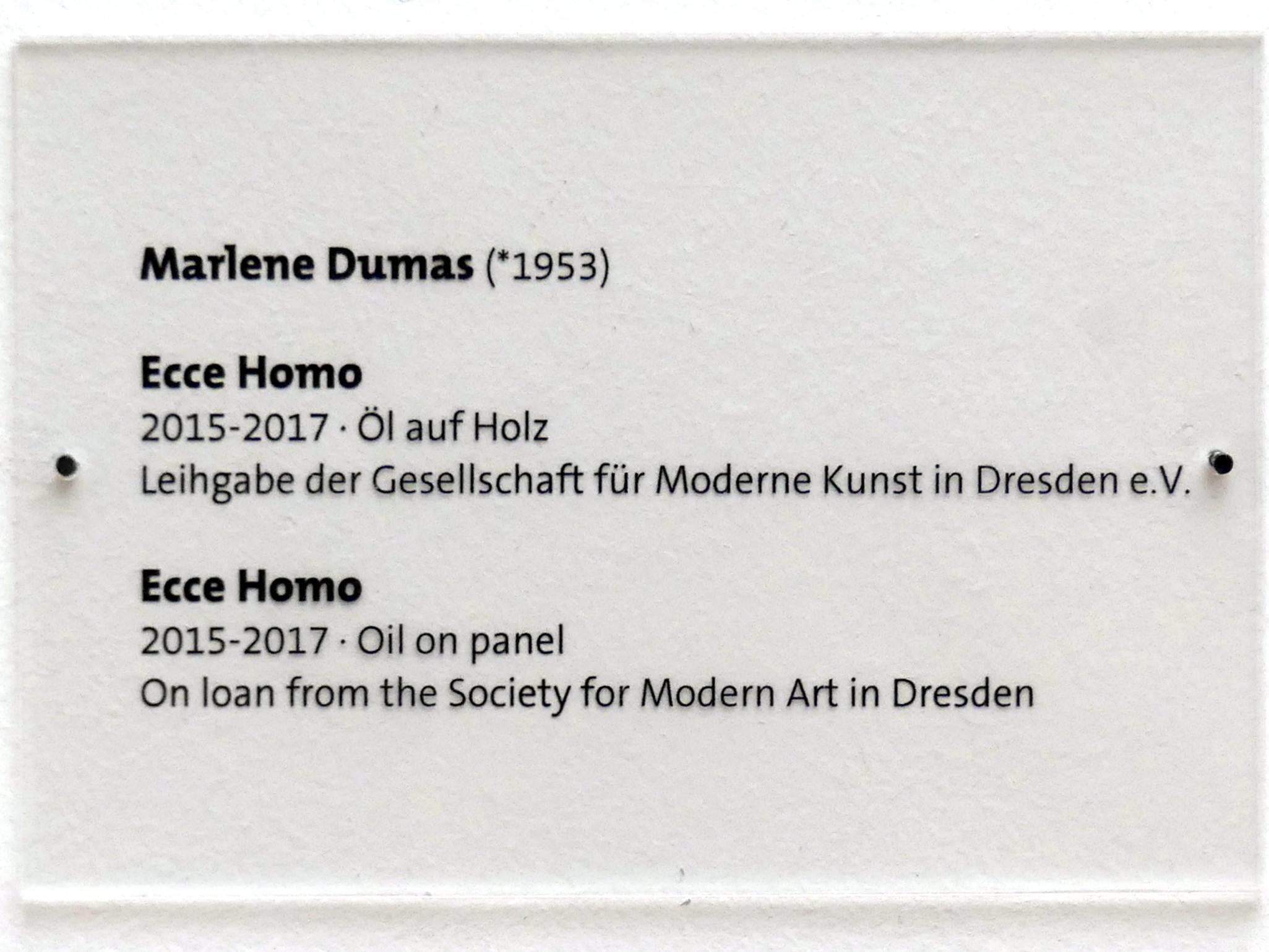 Marlene Dumas: Ecce Homo, 2015 - 2017, Bild 2/2