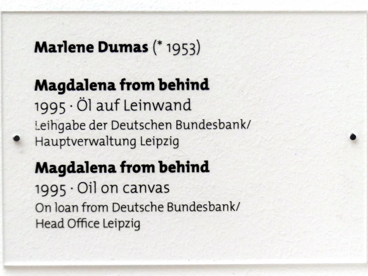 Marlene Dumas: Magdalena from behind, 1995, Bild 2/2