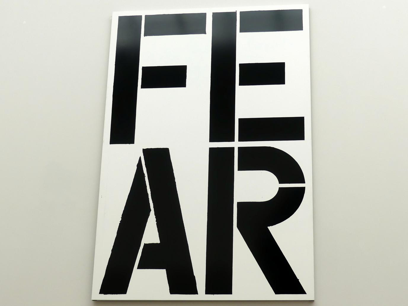 Christopher Wool: Untitled (FEAR) - Ohne Titel (ANGST), 1990