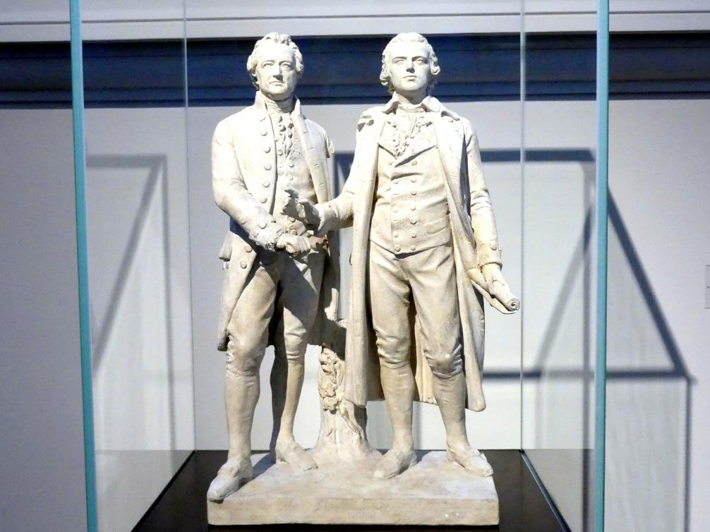 Ernst Rietschel: Entwurf zum Goethe-Schiller-Denkmal in Weimar, 1852 - 1853