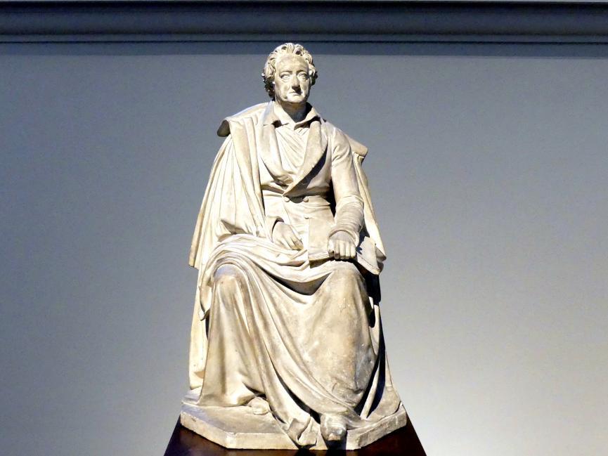 Ernst Rietschel: Johann Wolfgang von Goethe. Entwurf zum Sitzbild für das erste Dresdner Hoftheater, 1841